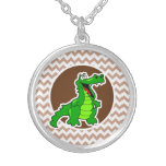 Alligator; Brown Chevron Custom Jewelry
