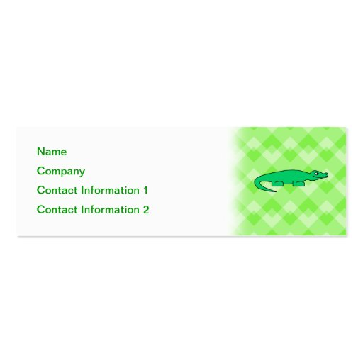 Alligator. Double-Sided Mini Business Cards (Pack Of 20)