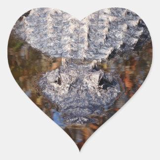 Alligator - Careful! Heart Sticker