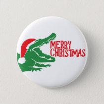 Alligator christmas button