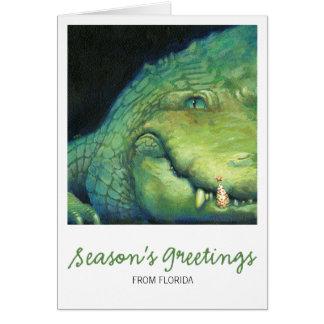 Alligator Christmas Card