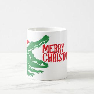 Alligator christmas mug