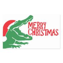 Alligator christmas sticker