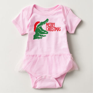 Alligator christmas tutu shirt