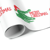 Alligator christmas wrapping paper