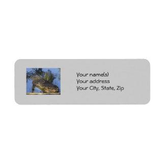 Alligator Close Up Return Address Label