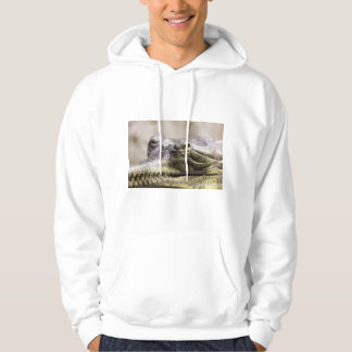 Alligator closeup photo hoodie