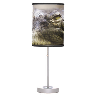 Alligator closeup photo table lamp