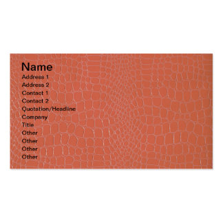 Alligator Coral Business Card