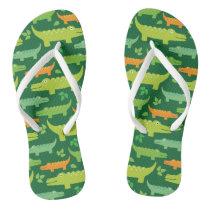 Alligator Crocodile Animals Flip flops