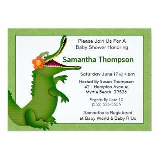 "Alligator/Crocodile Baby Shower Invitation 5"" X 7"" Invitation Card"