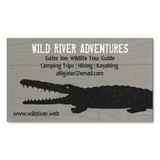 Alligator | Crocodile Business Card Magnet