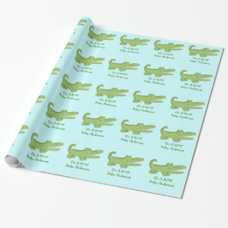 Alligator / Crocodile Customizable Wrapping Paper