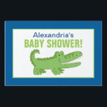 "Alligator Custom Baby Shower Yard Sign<br><div class=""desc"">Customizable party sign featuring our cute Alligator design. Template created for a size small 12x18 sign. 