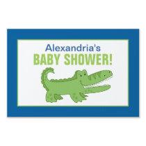 Alligator Custom Baby Shower Yard Sign