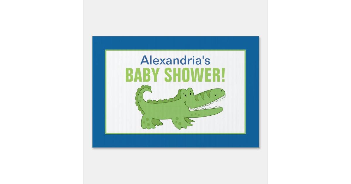 alligator custom baby shower yard sign zazzle
