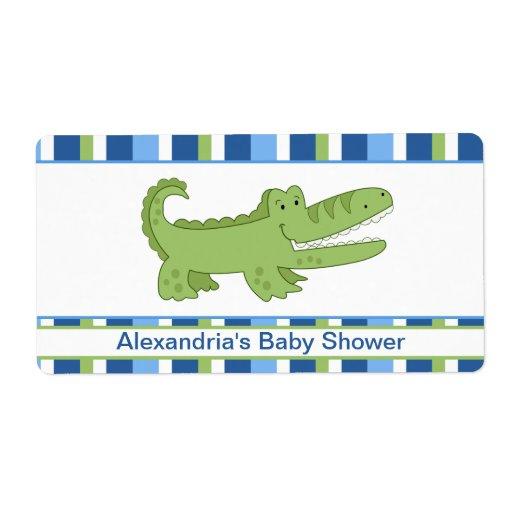 Alligator Customized Large Water Bottle Sticker Shipping Label