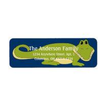 Alligator d4 Animal Return Address Labels