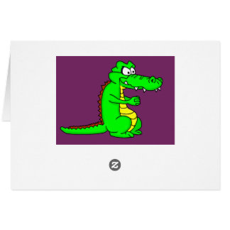 Alligator design cards and paper products