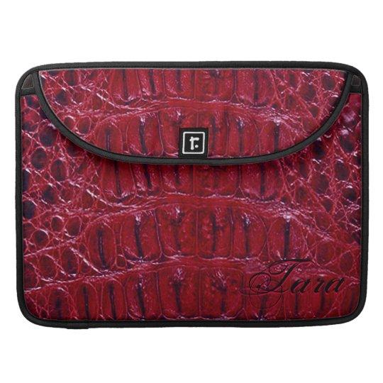 "Alligator Designer MacBook 15"" Sleeve (burgundy)"