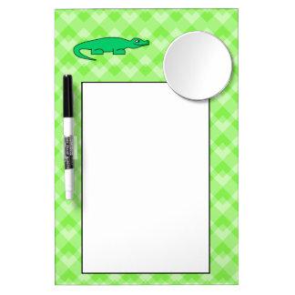 Alligator. Dry Erase Board With Mirror