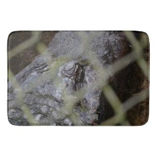 alligator eye through fence reptile animal gator bathroom mat