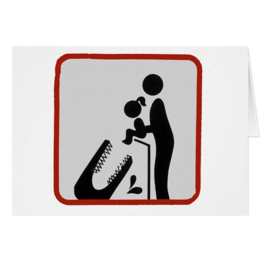 Alligator Feeding Time Greeting Card