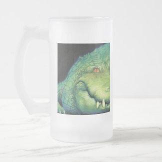 Alligator Frosted Glass Beer Mug