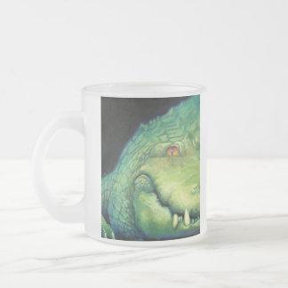 Alligator Frosted Glass Coffee Mug