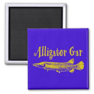 Alligator GAr Fish 2 Inch Square Magnet