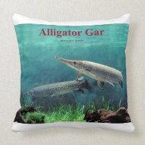 Alligator Gar Pike Throw Pillow