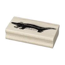 Alligator Gator Croc Crocodile Reptile Animal Zoo Rubber Stamp