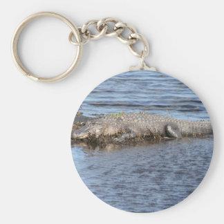 Alligator Gator Basic Round Button Keychain