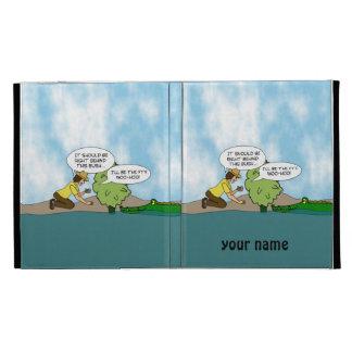 Alligator Geocaching Cartoon Personalized ipad iPad Folio Cases