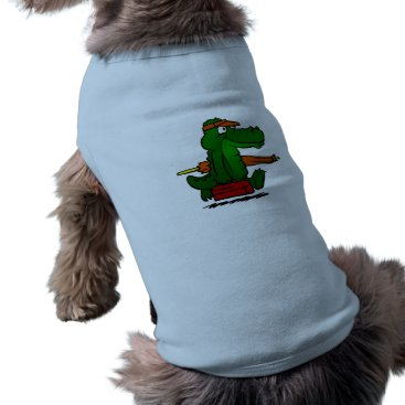 Alligator going to the beach tee