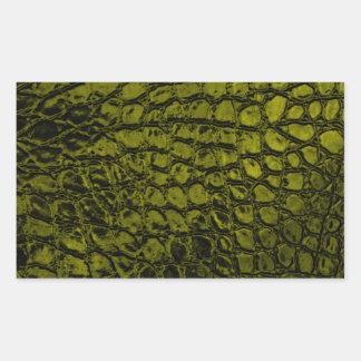 Alligator Gold Color Faux Leather Sticker