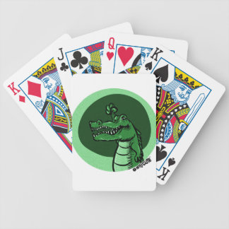 alligator green bicycle playing cards