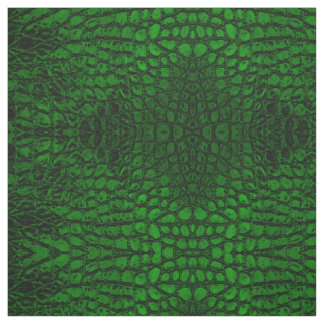 Alligator Green Faux Leather Fabric