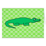 Alligator. Greeting Card