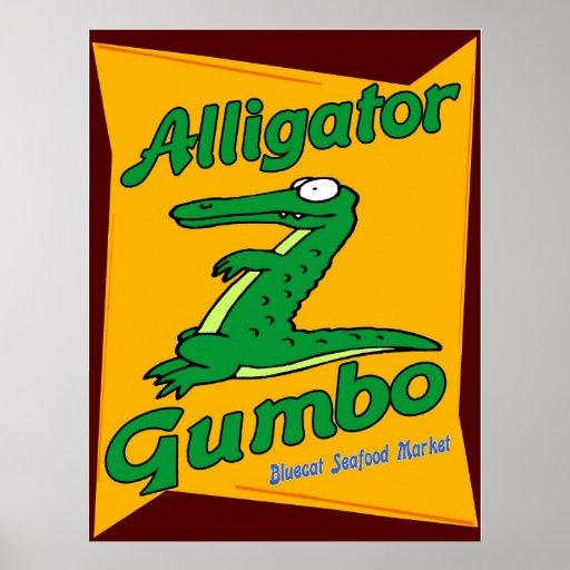 Alligator Gumbo Print