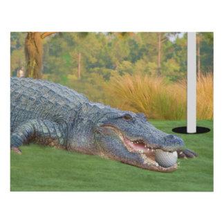 Alligator, Hazardous Lie on Golf Course Panel Wall Art