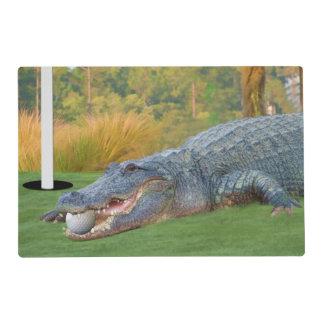 Alligator, Hazardous Lie on Golf Course Placemat