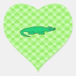 Alligator. Heart Sticker