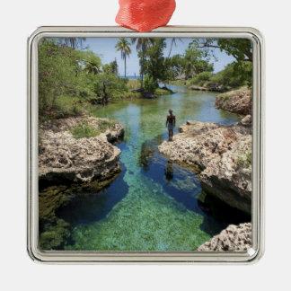 Alligator Hole, Black River Town, Jamaica Metal Ornament