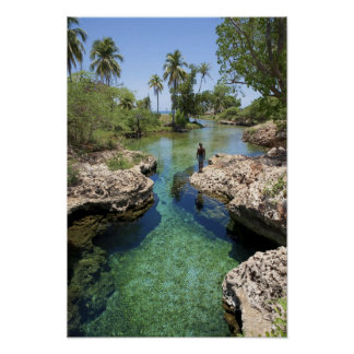 Alligator Hole, Black River Town, Jamaica Poster