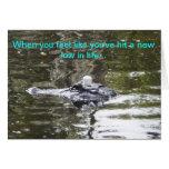 Alligator humor greeting card