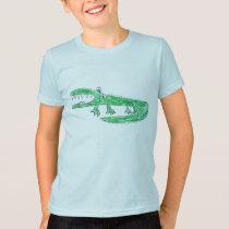 Alligator in Crayon T Shirt