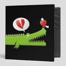 Alligator in Love 3 Ring Binder