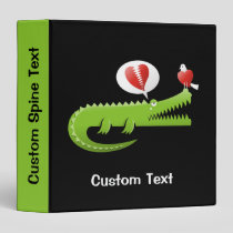 Alligator in Love 3 Ring Binder