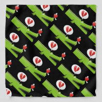 Alligator in Love Bandana